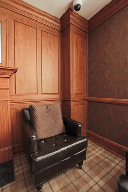 Wainscot in library