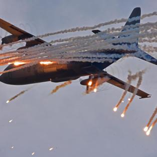 C-130 RNLAF Flares Volkel 2019