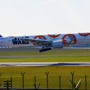 **LATEST ADDED** B777 ANA Star Wars Paint BB-8 BRU-2021