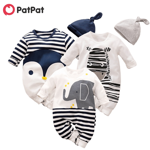 PatPat Hot Sale Autumn Animal Design Cotton Baby