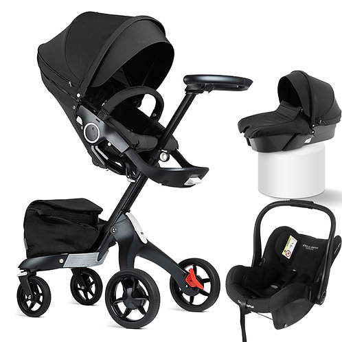 DSLAND Baby Stroller 3 in 1 With Car Seat Luxury
