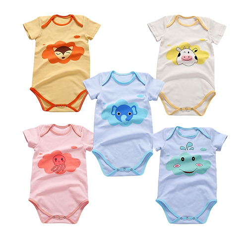 2020 High Quality Cotton Babys Romper Short Sleeve