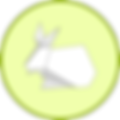 Origam Rabbit Badge