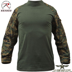 Military Combat Shirt - Woodland Dig