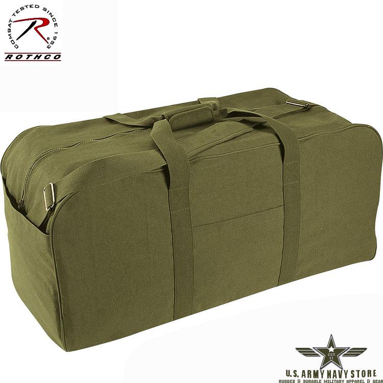 Canvas Jumbo Cargo Bag - Olive Drab