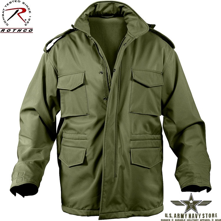 Soft Shell M-65 Jacket - Olive Drab