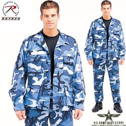 Poly/Cotton Twill BDU Shirt Sky Blue