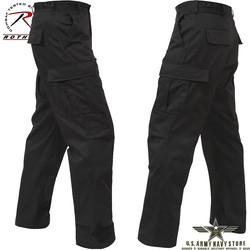 Poly/Cotton Twill BDU Pants - Black
