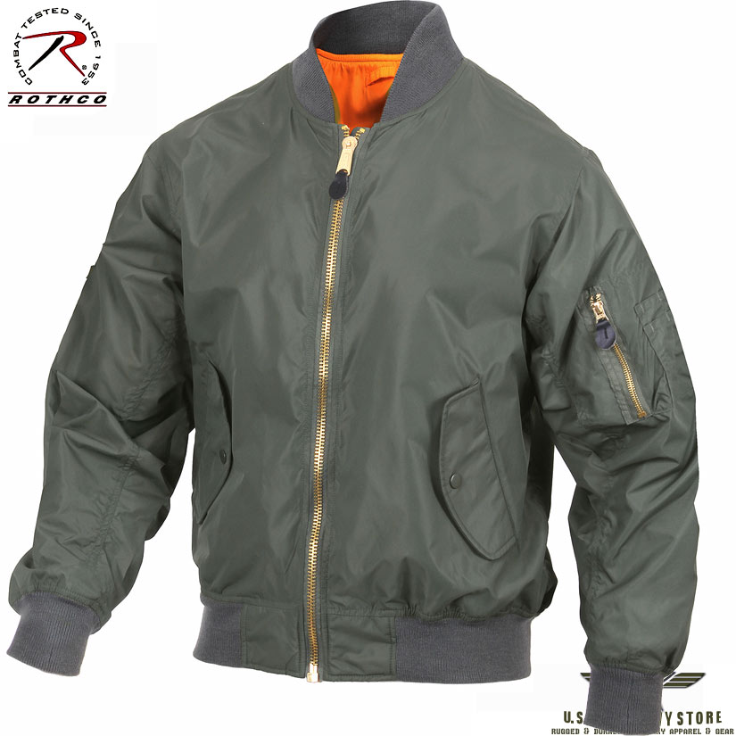 Lightweight MA-1 Flight Jacket Sage