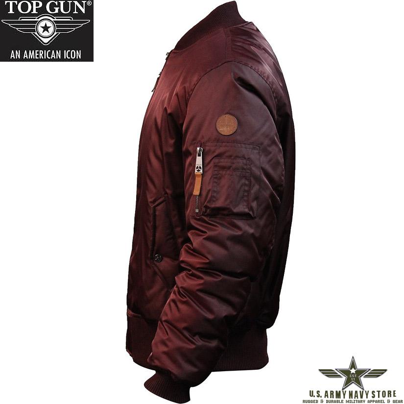 Top Gun Men's MA-1 / Burgundy