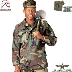 Woodland Camo M-65 Field Jacket