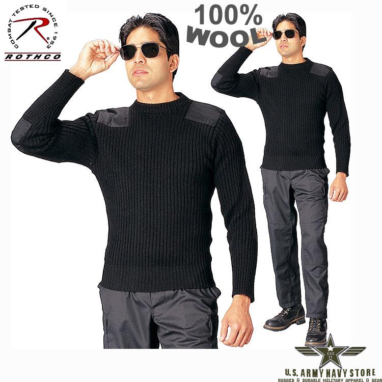G.I. Wool Commando Sweater - Black