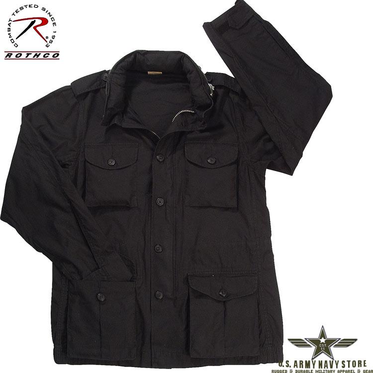 Black Lightweight Vintage M-65 Jacke