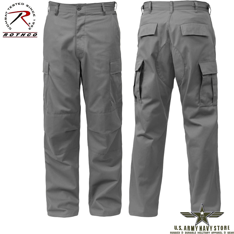 Poly/Cotton Twill BDU Pants - Grey