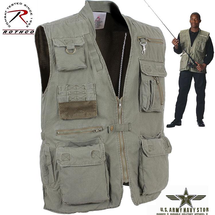 Deluxe Safari Outback Vest - OD