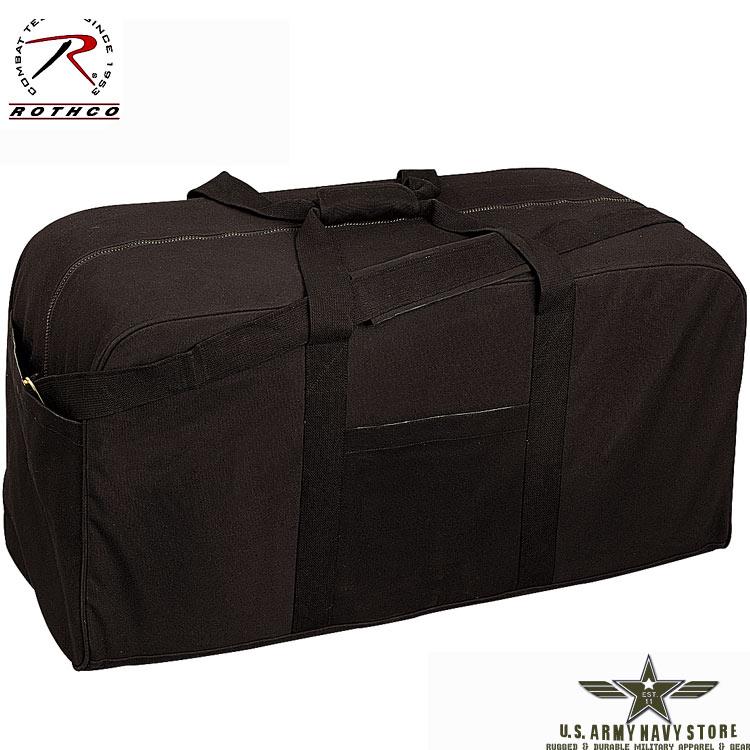 Canvas Jumbo Cargo Bag - Black