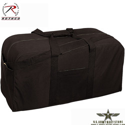 Canvas Jumbo Cargo Bag - Black