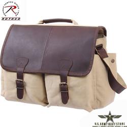 Vintage Messenger Bag - Khaki
