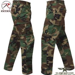 Rip-Stop BDU Pants - Woodland Camo