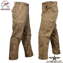 Poly/Cotton Twill BDU Pants - Coyote