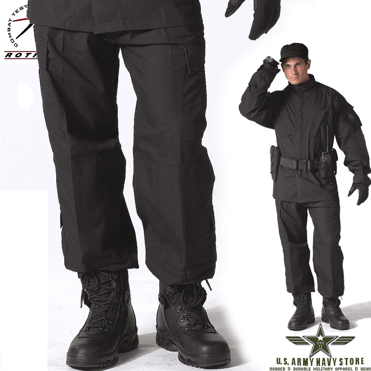 Army Combat Uniform Pants - Black