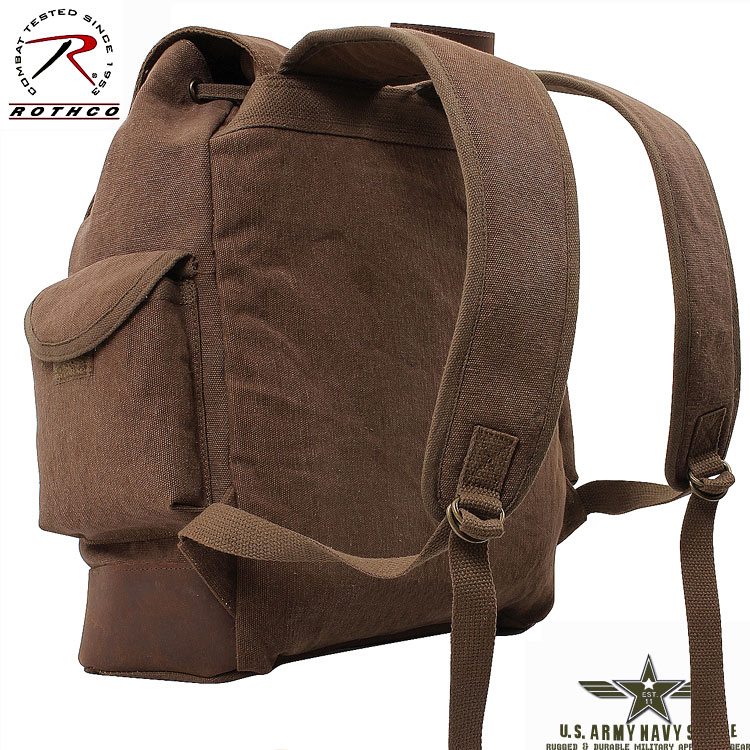 Vintage Expedition Rucksack - Brown