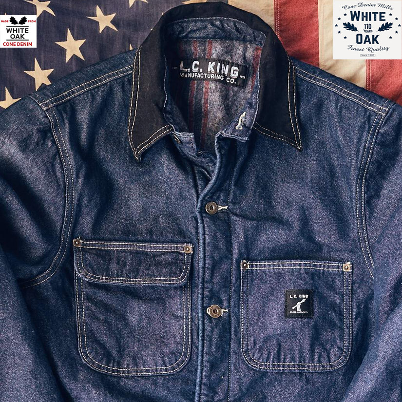 LC King Made in USA Denim Barn Coat