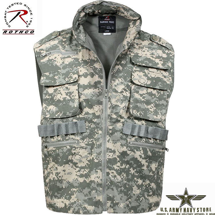 Ranger Vest w/Hood ACU Digital Camo