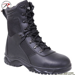 Insulated Tactical Boots w/Side Zip