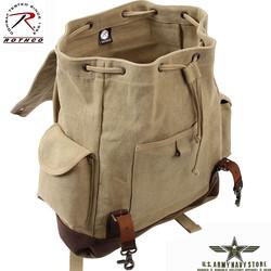 Vintage Expedition Rucksack - Khaki