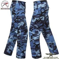 Poly/Cotton Twill BDU Pants Blue Cam