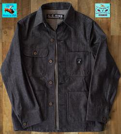 L.C. King Charcoal Grey Denim Chore Coat