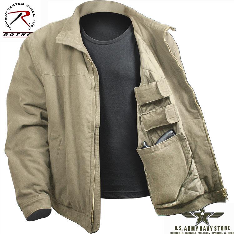 Concealed Carry Jacket - Khaki