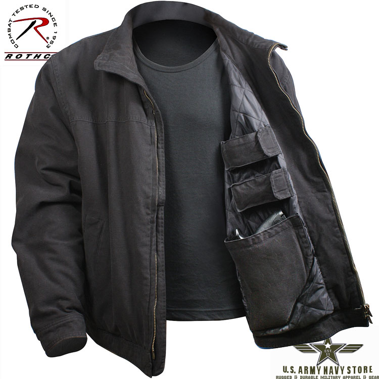 Concealed Carry Jacket - Black