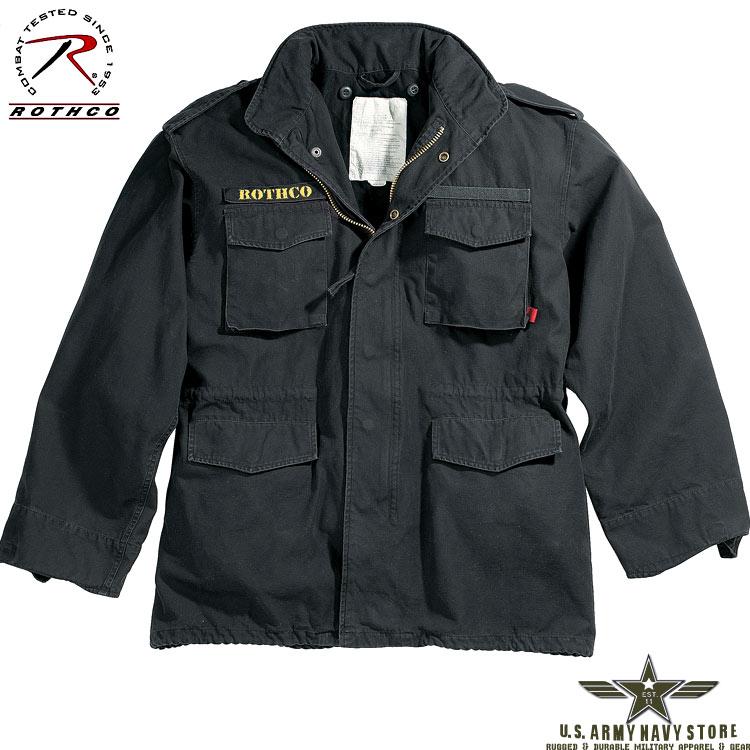 Black Vintage M-65 Field Jacket