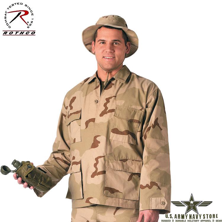 Rip-Stop BDU Shirt Tri-Color Desert