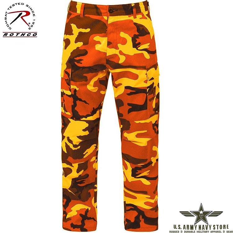 Poly/Cotton Twill BDU Pants - Orange