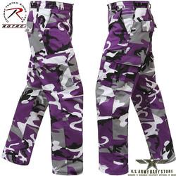 Poly/Cotton Twill BDU Pants - Violet