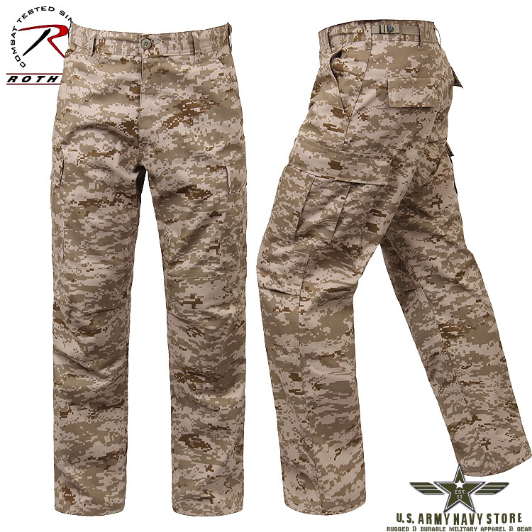 Poly/Cotton Twill BDU Pants - Desert