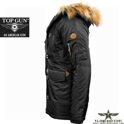 Top Gun Men's N-3B Parka / Black