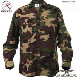 Extra Heavyweight Camo Flannel Shirt