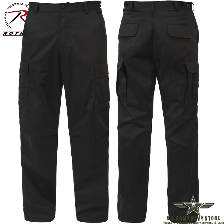 Rip-Stop BDU Pants - Black