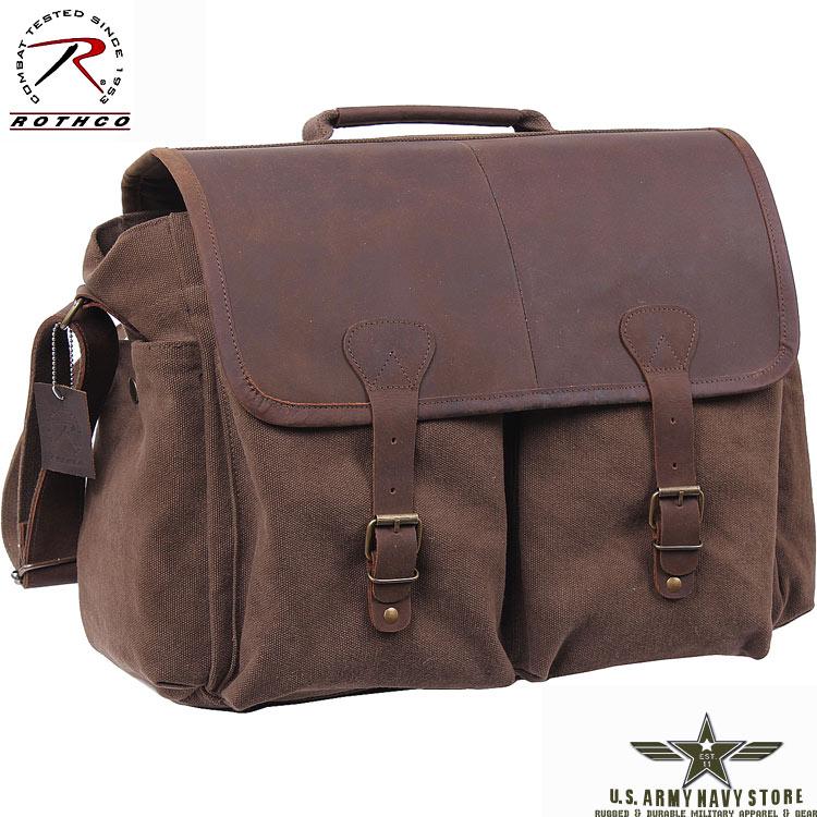 Vintage Messenger Bag - Brown