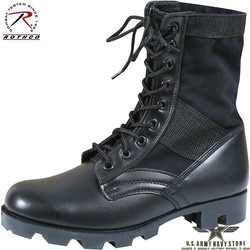 G.I. Style Jungle Boots / 8'' Black
