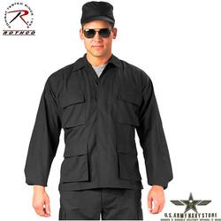 Rip-Stop BDU Shirt - Black