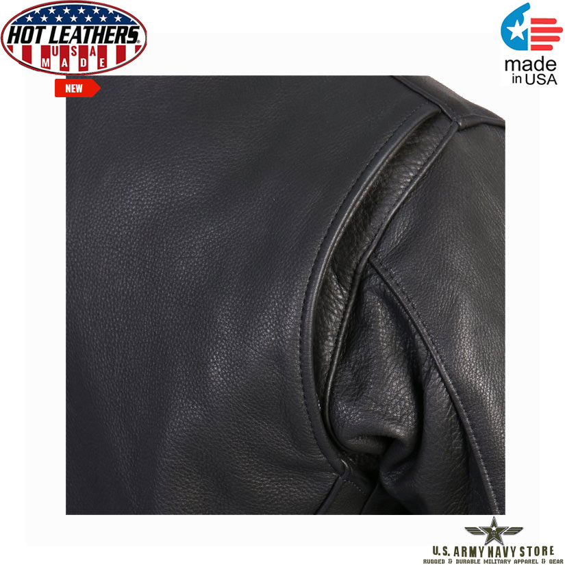 Hot Leathers USA Made Racer Jacket