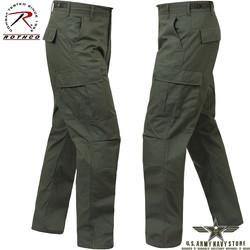 Poly/Cotton Twill BDU Pants - OD