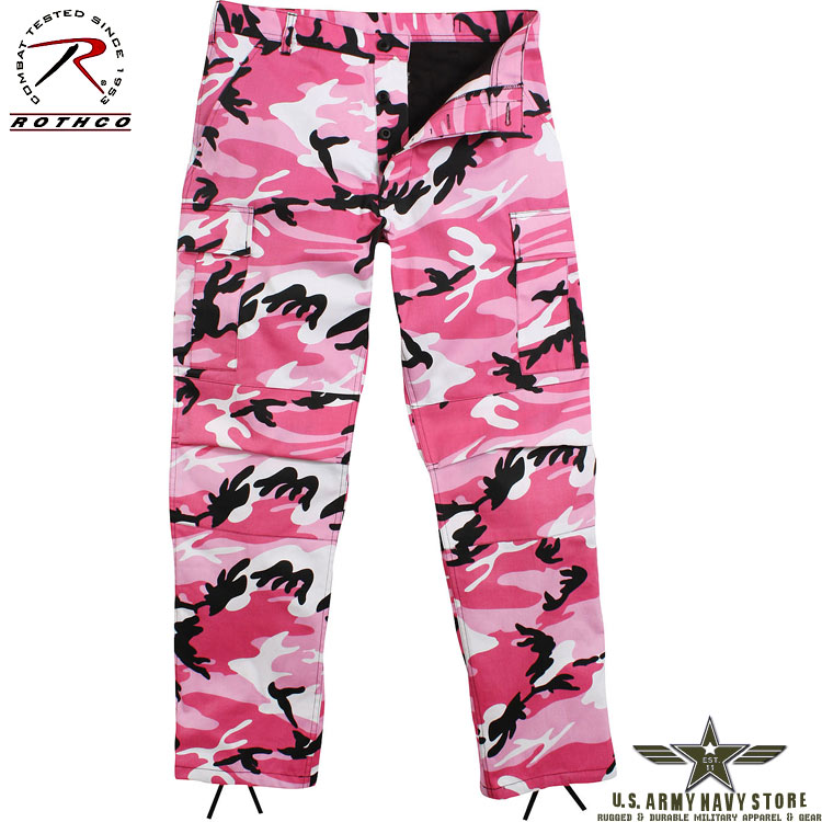 Poly/Cotton Twill BDU Pants - Pink