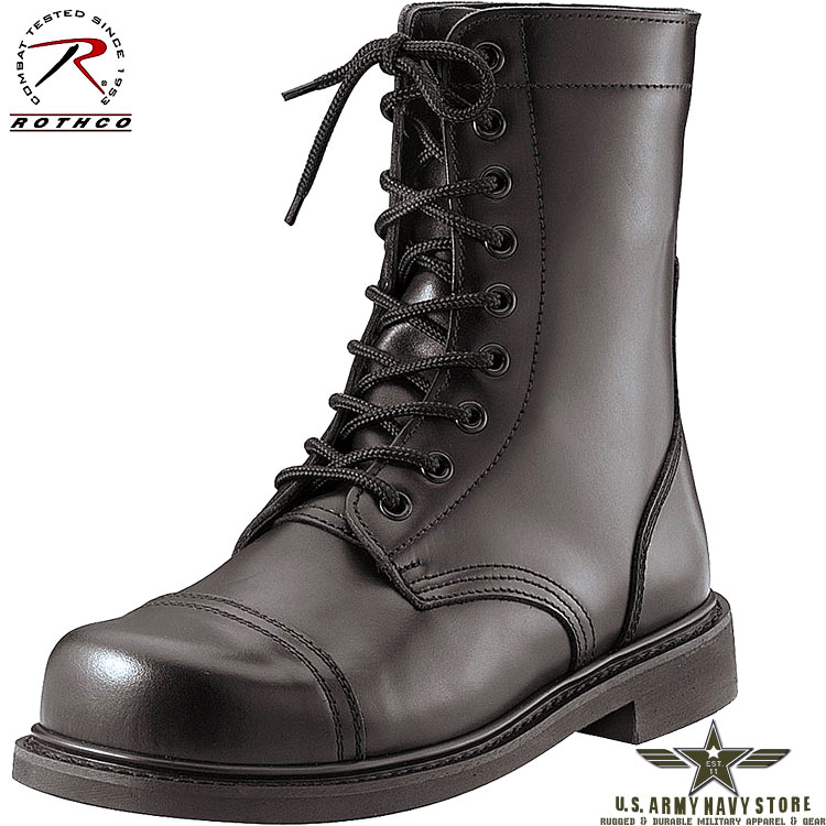 "G.I. Style Combat Boots / 9"" / Black"