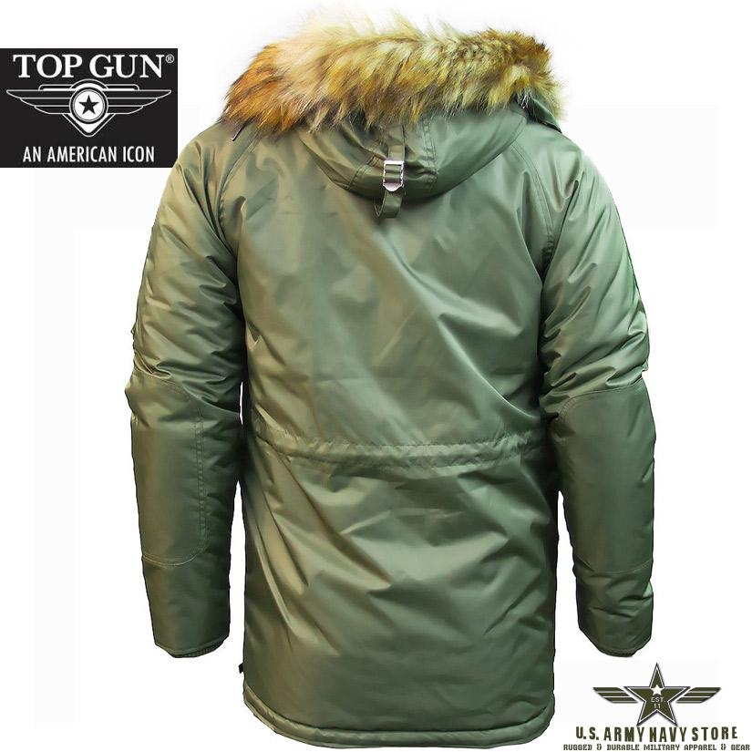 Top Gun Men's N-3B Parka / Olive